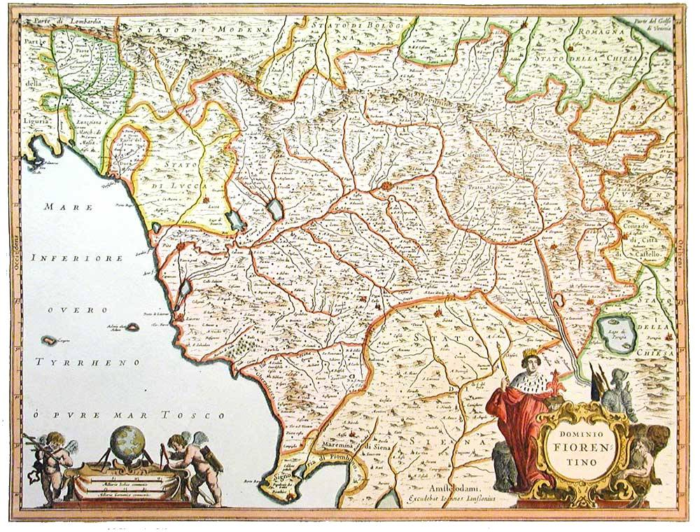 Cartina Toscana